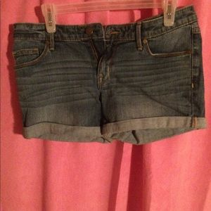Denim shorts worn once